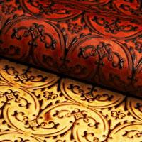 Heraldic leather