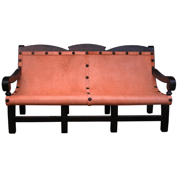 Spanish Colonial Leather Raw Benches bch32
