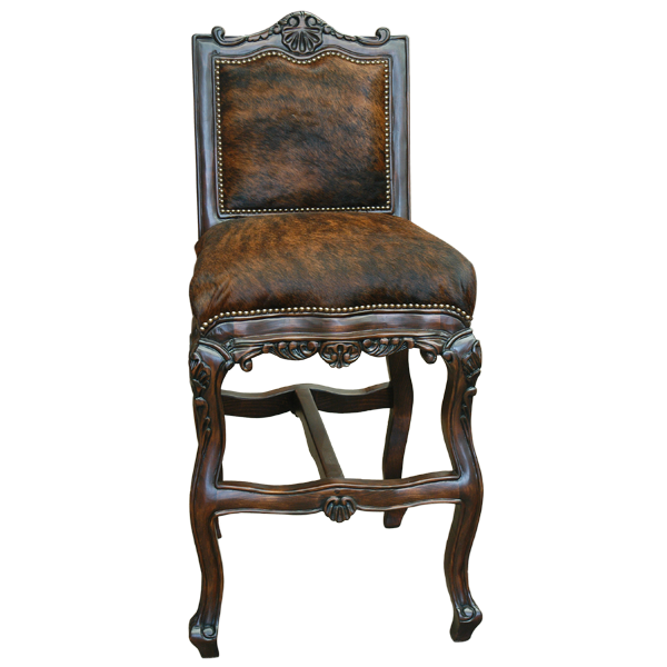 Spanish Colonial Leather Bar Stools bst01