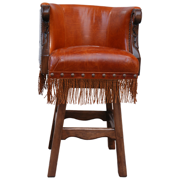 Western Leather Hand Carved Bar Stools bst20