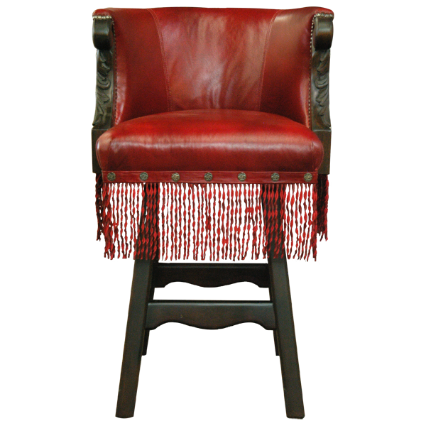 Western Leather Hand Carved Bar Stools bst20a