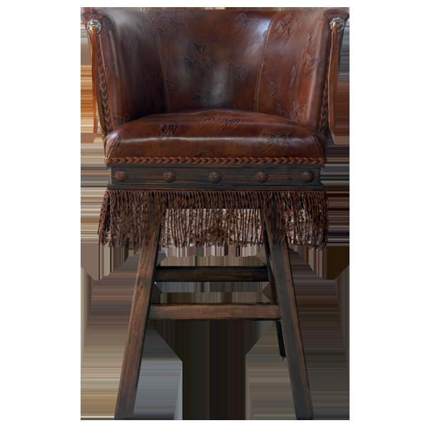 Western Leather Bar Stools bst22a