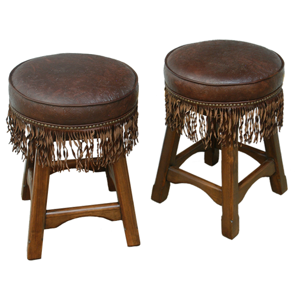 Spanish Colonial Leather Bar Stools bst33