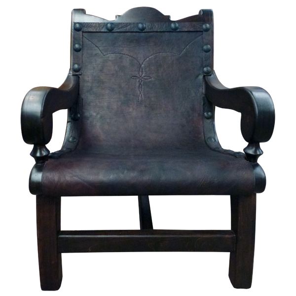 Western Embroidery Leather Raw Chairs chr22a