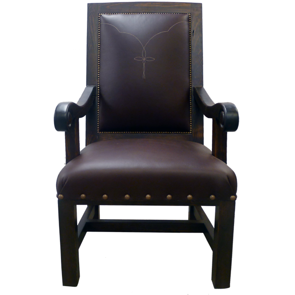 Western Embroidery Leather Upholstered Chairs chr25a