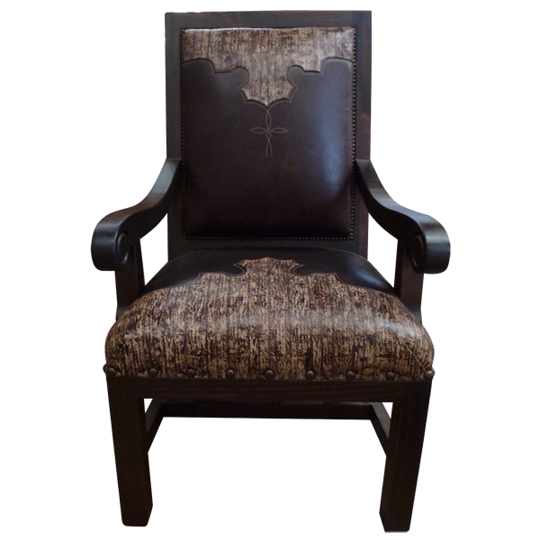Western Leather Upholstered Chairs chr25b