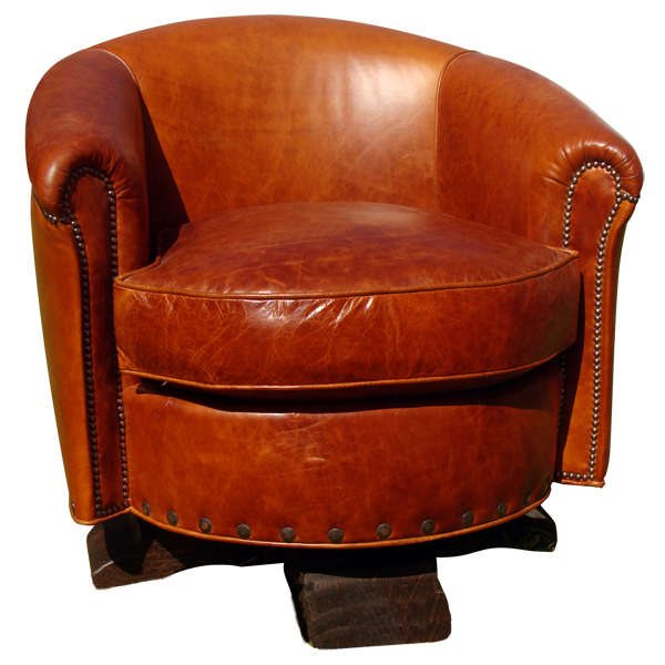 Western Leather Upholstered Swivel Chairs chr28