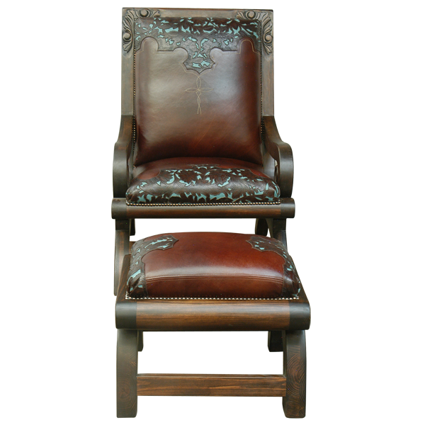 Western Leather Upholstered Chairs chr50